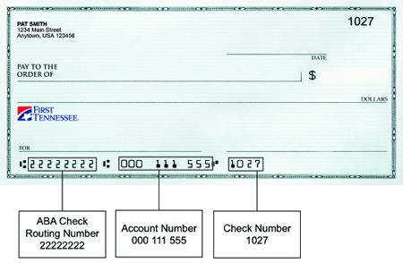 Routing Number Illustration