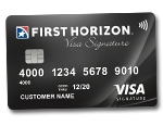 Get cash back with Visa Signature from First Tennessee Bank